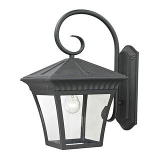 Cornerstone 11-inch Matte Textured Black Ridgewood 1-light Exterior Coach Lantern