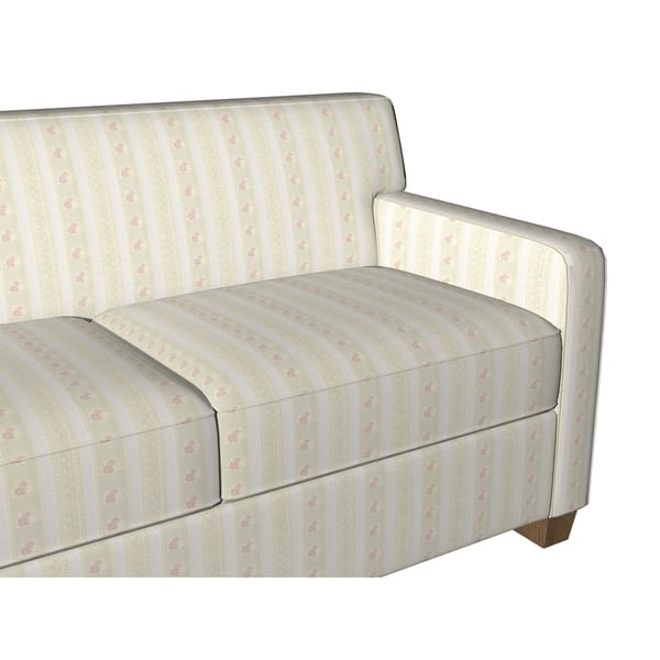 Surprising Shop D125 Gold Pink And White Floral Striped Brocade Theyellowbook Wood Chair Design Ideas Theyellowbookinfo
