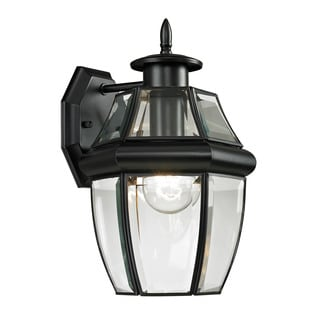 Cornerstone 8-inch Black Ashford 1-light Exterior Coach Lantern