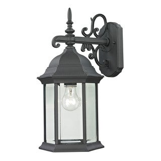 Cornerstone 8-inch Matte Textured Black Spring Lake 1-light Exterior Coach Lantern
