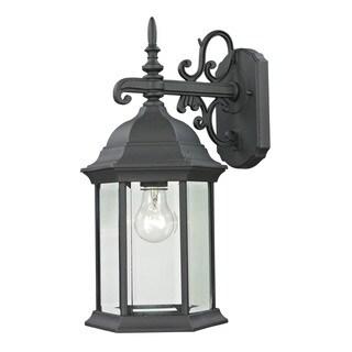 Cornerstone 8-inch Matte Textured Black Spring Lake 1-light Exterior Coach Lantern