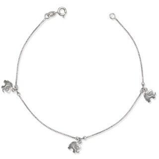 La Preciosa Sterling Silver Elephant Charms Bracelet