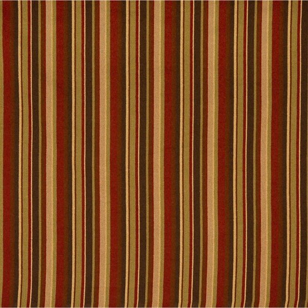 Shop F471 Red Green And Brown Striped Woven Upholstery