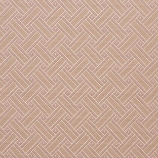 D130 Gold And Pink Lattice Brocade Upholstery Fabric