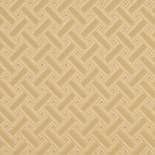 D132 Gold White And Red Lattice Brocade Upholstery Fabric