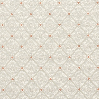 D139 Silver White And Mahogany Red Diamond Brocade Upholstery Fabric