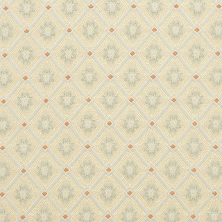 D141 Gold White Red And Green Diamond Brocade Upholstery Fabric