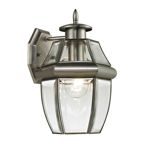 Cornerstone 8-inch Antique Nickel Ashford 1-light Exterior Coach Lantern