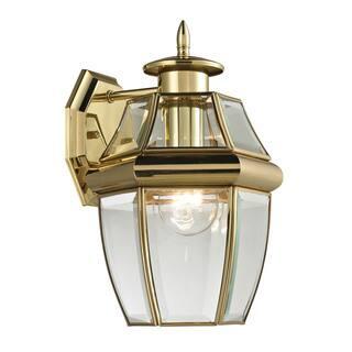 Buy coach lanterns outdoor wall lighting online at overstock cornerstone 8 inch antique brass ashford 1 light exterior coach lantern mozeypictures Choice Image
