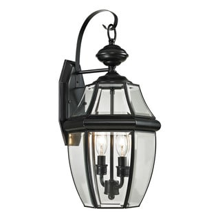 Cornerstone 10-inch Black Ashford 2-light Exterior Coach Lantern