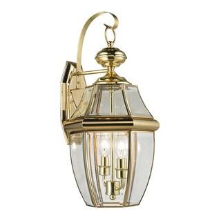 Cornerstone 10-inch Antique Brass Ashford 2-light Exterior Coach Lantern
