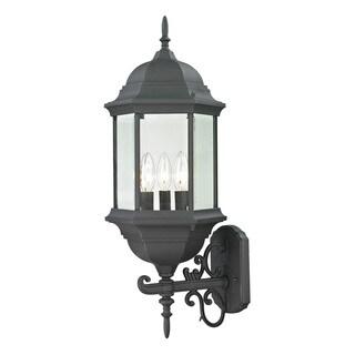 Cornerstone 9.5-inch Matte Textured Black Spring Lake 3-light Exterior Coach Lantern