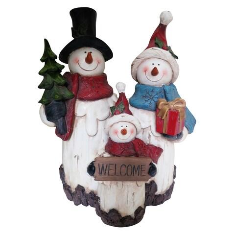 10-inch Snowman Family Statuary