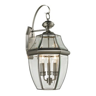 Cornerstone 13-inch Antique Nickel Ashford 3-light Exterior Coach Lantern