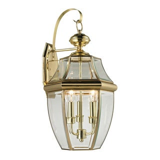 Cornerstone 13-inch Antique Brass Ashford 3-light Exterior Coach Lantern