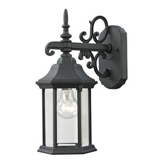 Cornerstone 6-inch Matte Textured Black Spring Lake 1-light Exterior Coach Lantern