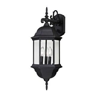 Cornerstone 10.25-inch Matte Black Spring Lake 3-light Exterior Wall Lamp