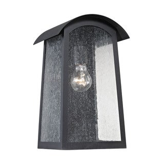 Cornerstone 8-inch Matte Black Prince Street 1-light Exterior Wall Lamp