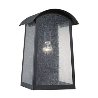 Cornerstone 10-inch Matte Black Prince Street 1-light Exterior Wall Lamp