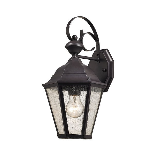 Cornerstone 8-inch Oil Rubbed Bronze Cotswold 1-light Exterior ...