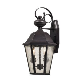 Cornerstone 9.5-inch Oil Rubbed Bronze Cotswold 2-light Exterior Wall Lamp