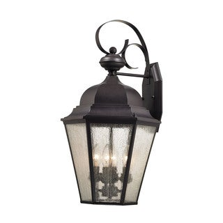 Cornerstone 12.75-inch Oil Rubbed Bronze Cotswold 4-light Exterior Wall Lamp