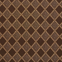 F579 Brown Bronze Gold Ivory Diamond Upholstery Drapery Fabric