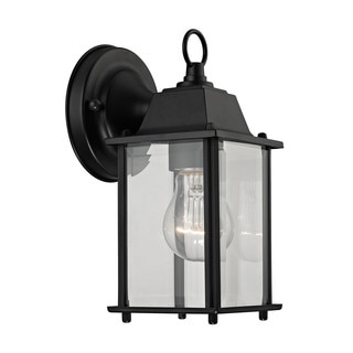 Cornerstone 5.75-inch Matte Black 1-light Outdoor Wall Sconce