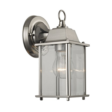 Cornerstone 5.75-inch Brushed Nickel 1-light Outdoor Wall Sconce
