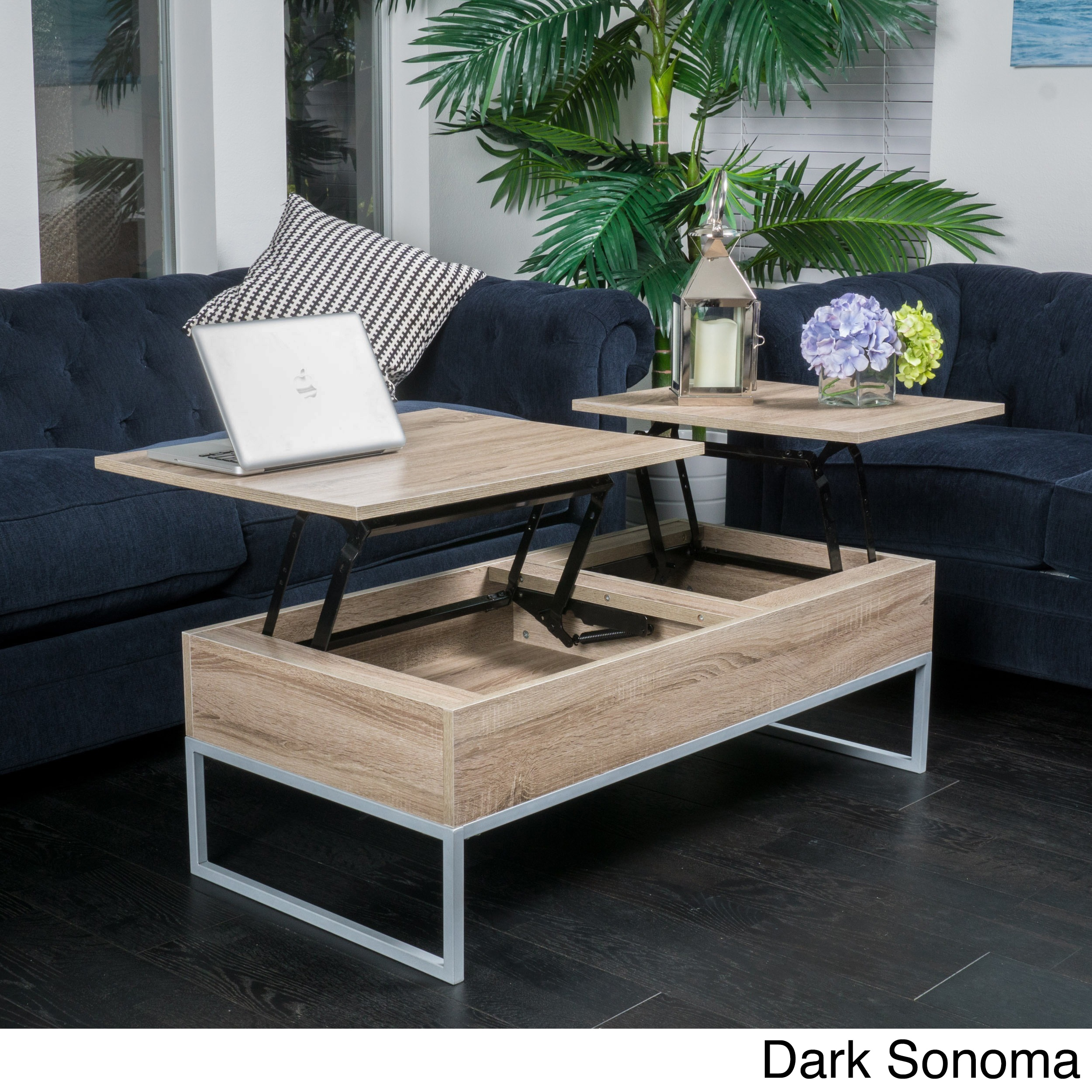 Coffee table lift top dark sonoma christopher knight home ebay picture 6 of 10 geotapseo Images