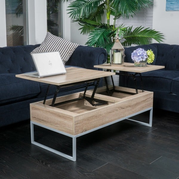 Lift Top Wood Storage Coffee Table By Christopher Knight