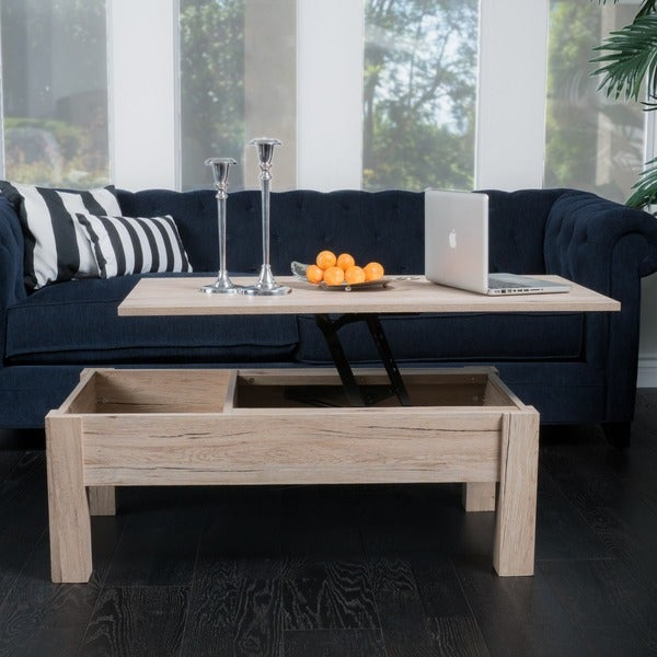 Best Storage Coffee Table: Shop Wood Lift-Top Storage Coffee Table By Christopher