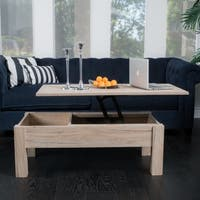 Shop Elliot Wood Lift Top Storage Coffee Table By
