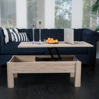 Wood Lift-Top Storage Coffee Table by Christopher Knight Home