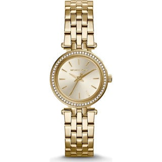 Michael Kors Women's MK3295 Mini Darci Round Gold-tone Bracelet Watch