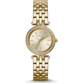 Michael Kors Women's MK3295 Mini Darci Round Gold-tone Bracelet Watch|https://ak1.ostkcdn.com/images/products/10280404/P17395772.jpg?impolicy=medium