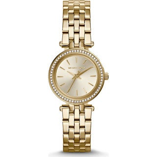 Michael Kors Women's Mini Darci Round Gold-tone Bracelet Watch