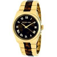 Michael Kors Women's MK6151 Channing Round Tortoise and Gold-Tone Bracelet Watch