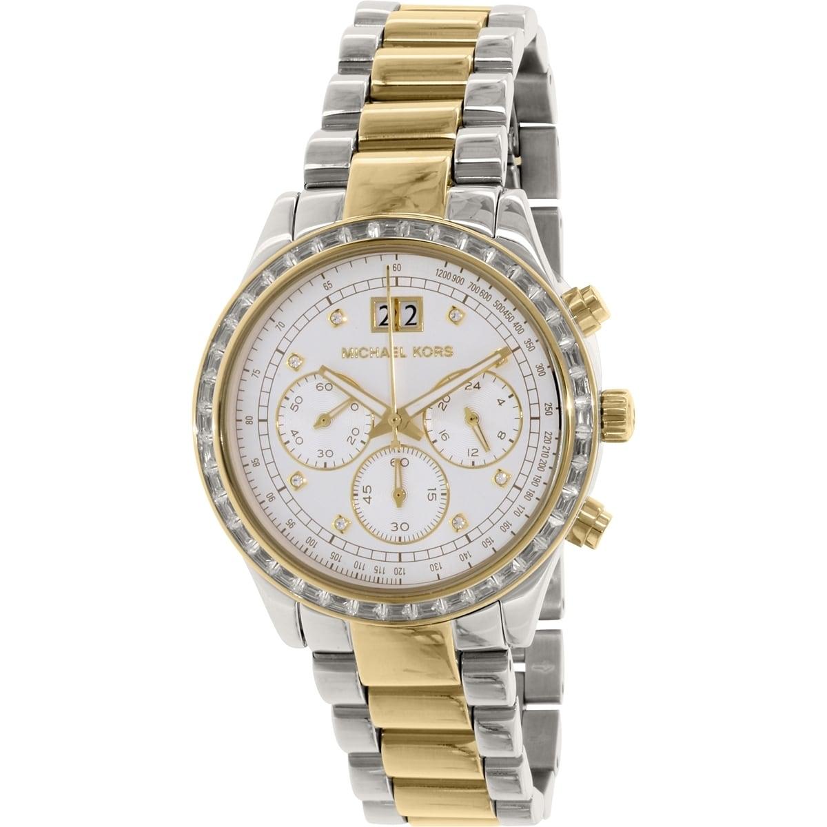 Michael Kors Womens  Brinkley Round Two-tone Bracelet Watch Michael Kors Womens Brinkley Watch