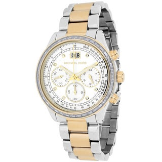 Michael Kors Women's MK6188 Brinkley Round Two-tone Bracelet Watch