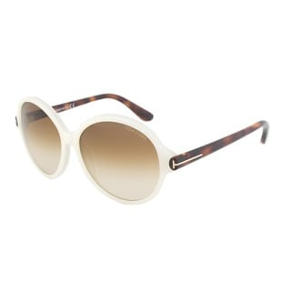 Tom Ford FT0343 20F Milena Round Sunglasses - Ivory White Frame