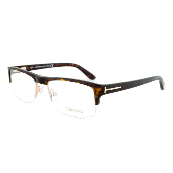 Eyeglass Frames Size 60 : Tom Ford FT5241 053 Tortoise Brown Rectangular Eyeglass ...