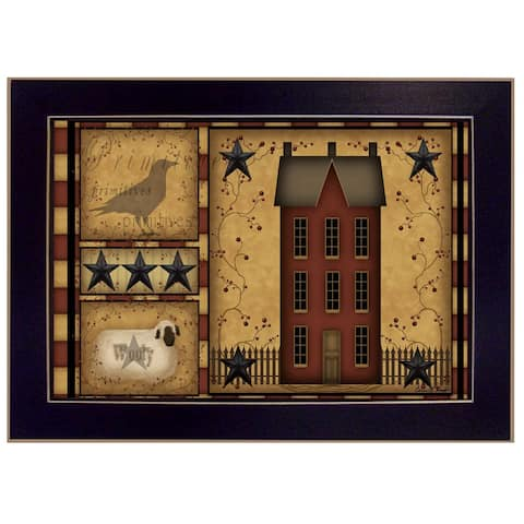 """""""Primitive Shadowbox"""" By Carrie Knoff, Printed Wall Art, Ready To Hang Framed Poster, Black Frame"""