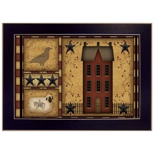 """Primitive Shadowbox"" By Carrie Knoff, Printed Wall Art, Ready To Hang Framed Poster, Black Frame"