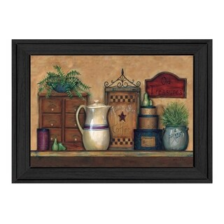 """""""Old Treasures"""" By Carrie Knoff, Printed Wall Art, Ready To Hang Framed Poster, Black Frame"""