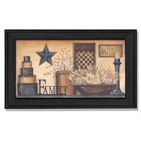 """Family"" By Carrie Knoff, Printed Wall Art, Ready To Hang Framed Poster, Black Frame"