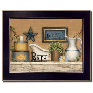 """""""Buttermilk Soap"""" By Carrie Knoff, Printed Wall Art, Ready To Hang Framed Poster, Black Frame"""