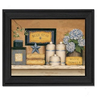 """""""Warm Towels"""" By Carrie Knoff, Printed Wall Art, Ready To Hang Framed Poster, Black Frame"""