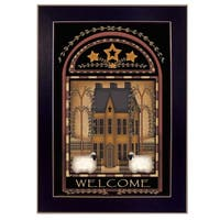 """""""Welcome Saltbox"""" By Carrie Knoff, Printed Wall Art, Ready To Hang Framed Poster, Black Frame"""