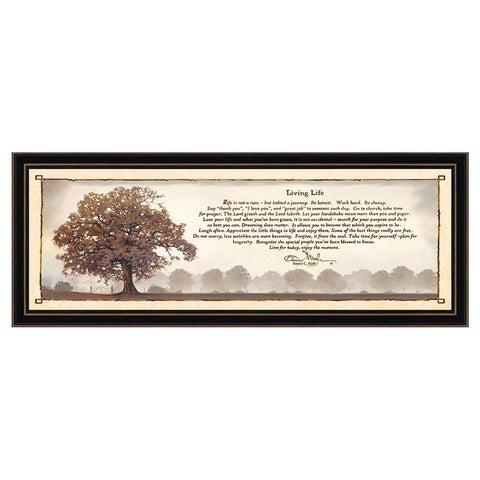 """""""Living Life"""" By Bonnie Mohr, Printed Wall Art, Ready To Hang Framed Poster, Black Frame"""